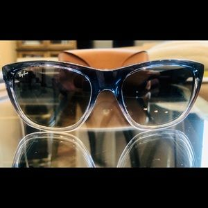 Ray-Ban Blue gradient polarized Sunglasses w case